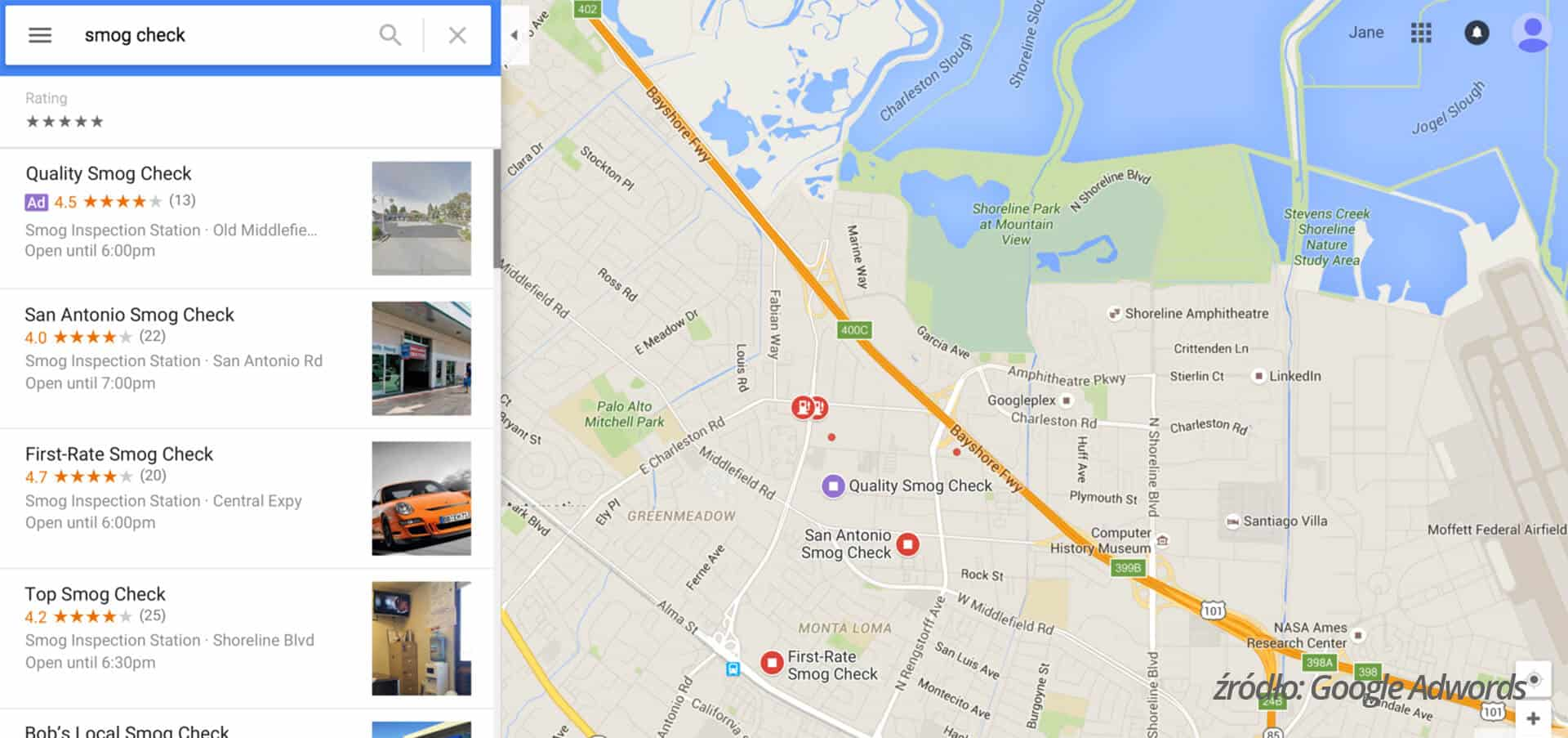 reklama na mapach google